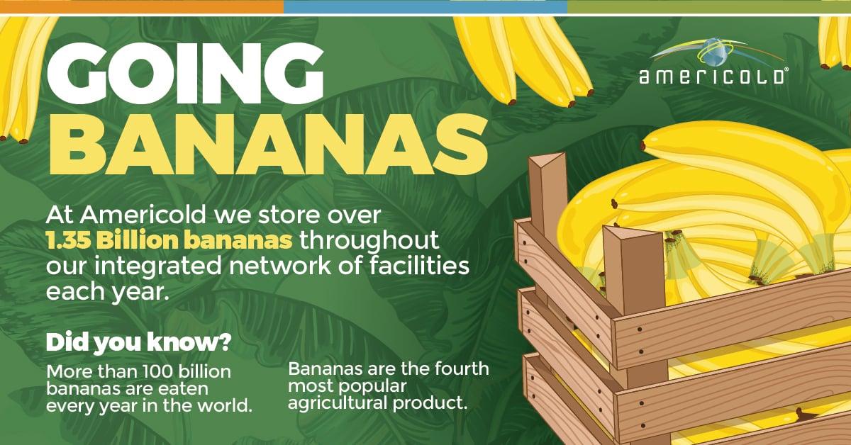 Going Bananas - Americold Infographic